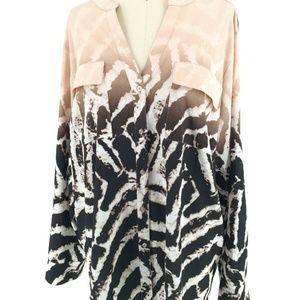 Calvin Klein Zebra Print Top